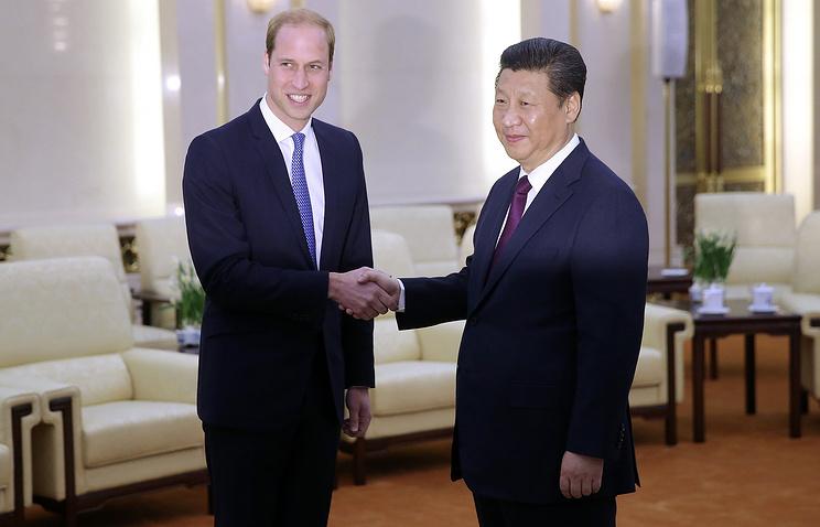 Принц Уильям и Си Цзиньпин во время встречи в Пекине