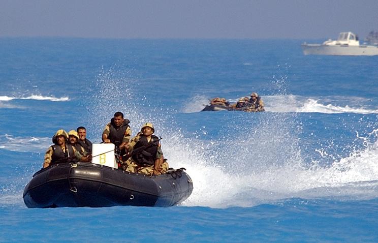 Египетские военнослужащие во время учений
