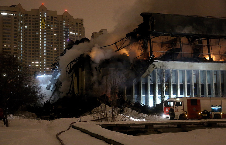 Пожар в здании фундаментальной библиотеки института РАН, 31 января 2015 года