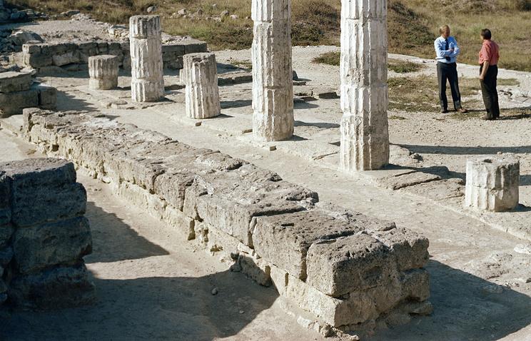 Раскопки городища Боспорского царства