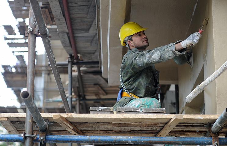 Фасадные работы в рамках капитального ремонта.