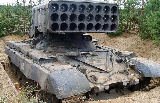 """ТОС-1А (""""Буратино"""") с новым термобарическим снарядом повышенной дальности """"Солнцепёк"""""""