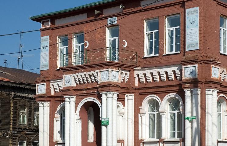 Здание Хамитовского медресе при Красной мечети в Томске