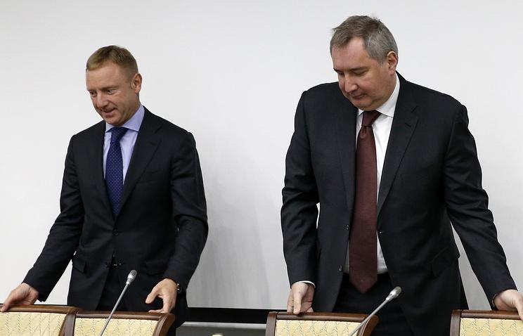 Министр образования и науки РФ Дмитрий Ливанов и вице-премьер РФ Дмитрий Рогозин