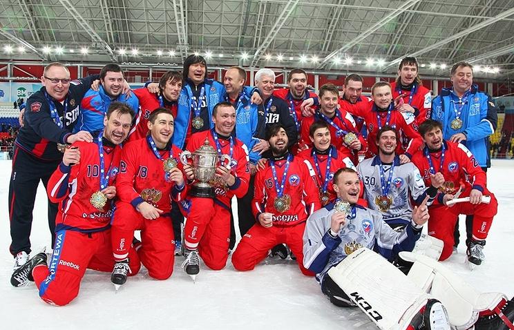 Церемония награждения сборной России