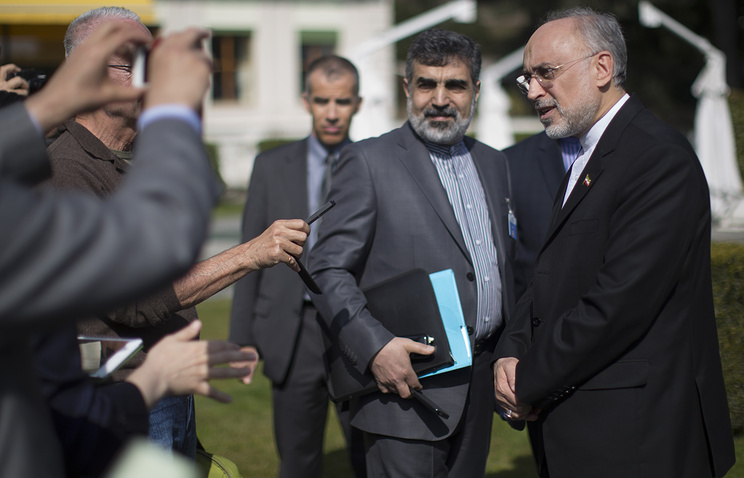 Вице-президент по атомной энергетике, президент Организации по атомной энергии Ирана Али Акбар Салехи в в Лозанне