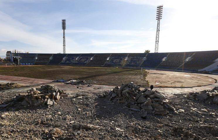 Демонтаж Центрального стадиона города Волгограда