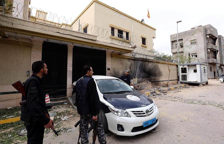 Взрыв у испанского посольства в Ливии