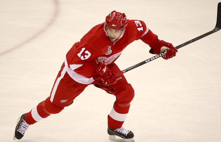 Российский нападающий Detroit Red Wings Павел Дацюк