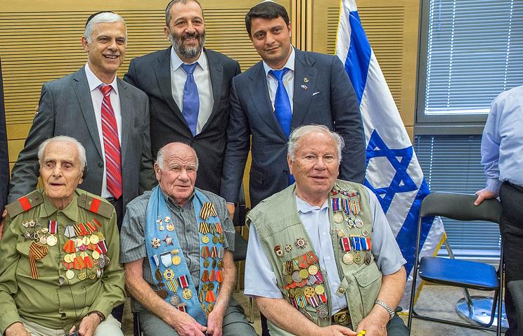 Ветераны Великой Отечественной войны на встрече в Кнессете