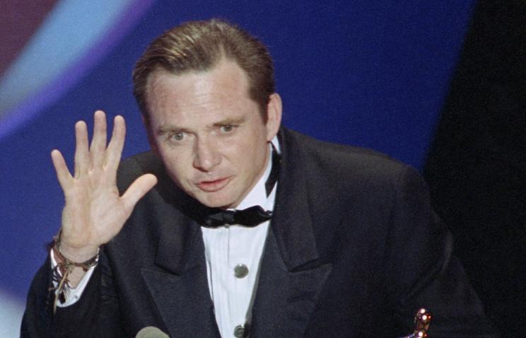 "Майкл Блэйк на церемонии вручения премии ""Оскар"", 1991 год"