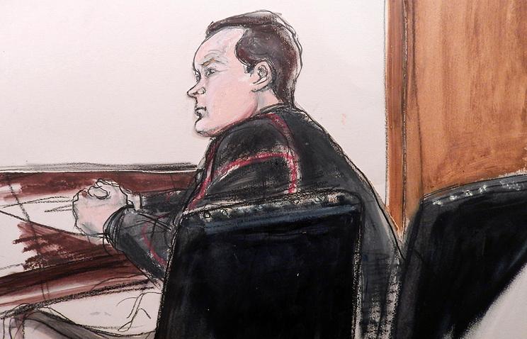 Евгений Буряков во время судебного заседания в Нью-Йорке, 26 января 2015 года