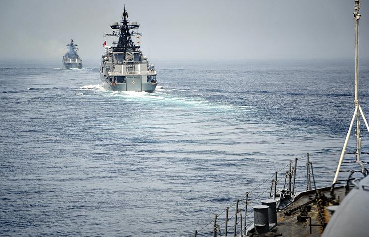 """Российско-китайские военно-морские учения """"Морское взаимодействие"""""""