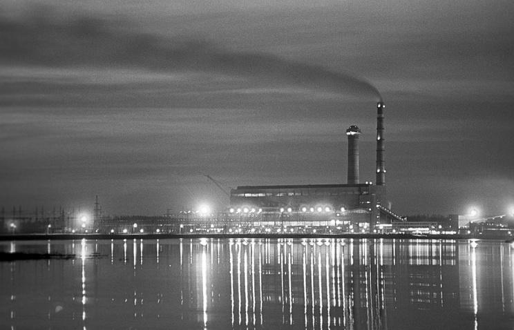 Вид на Рефтинскую ГРЭС. 1972 год