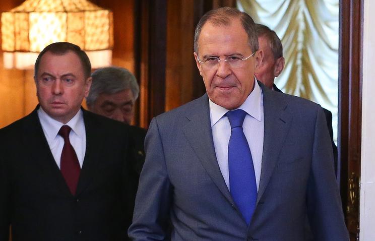 Министр иностранных дел Республики Беларусь Владимир Макей и министр иностранных дел РФ Сергей Лавров