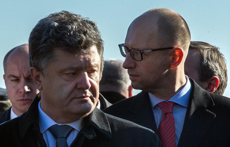 Президент Украины Петр Порошенко и премьер-министр Украины Арсений Яценюк