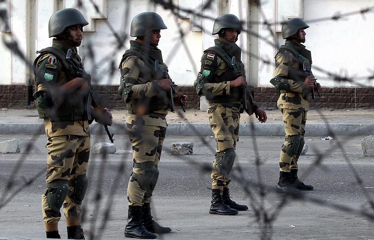 Египетские военные в Каире