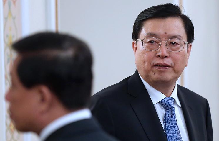 Председатель Постоянного комитета Всекитайского собрания народных представителей Чжан Дэцзян