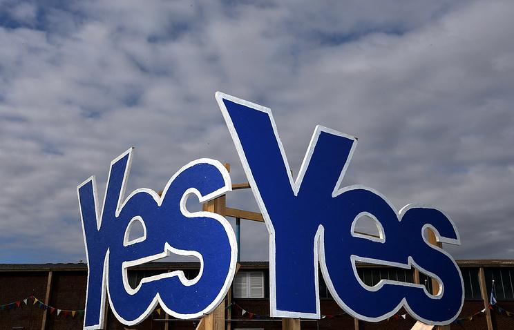 Агитационная кампания к проведению референдума в Шотландии 18 сентября
