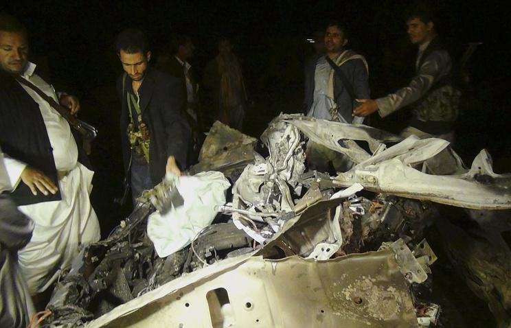 Последствия теракта в столице Йемена Сане