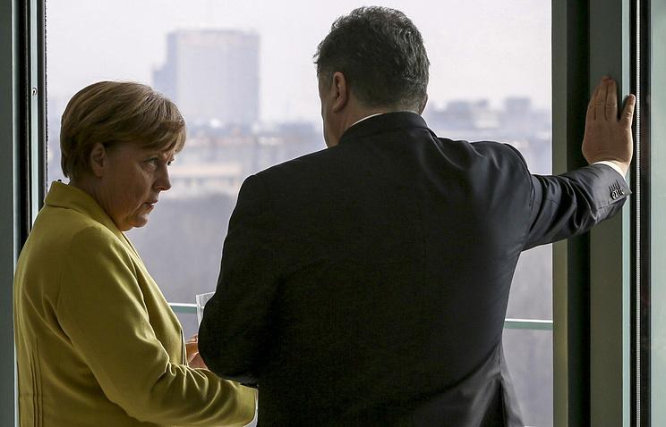 Канцлер Германии Ангела Меркель и президент Украины Петр Порошенко