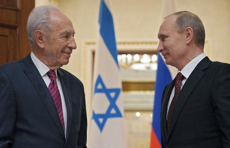 Шимон Перес и Владимир Путин