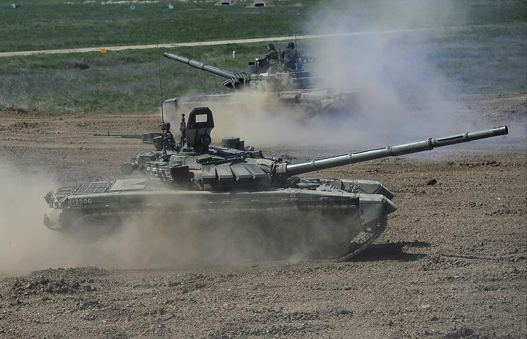 Т-72Б3  на общевойсковом полигоне Прудбой
