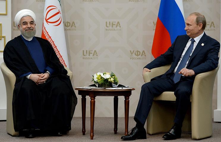Встреча президента Российской Федерации Владимира Путина с президентом Ирана Хасаном Рухани