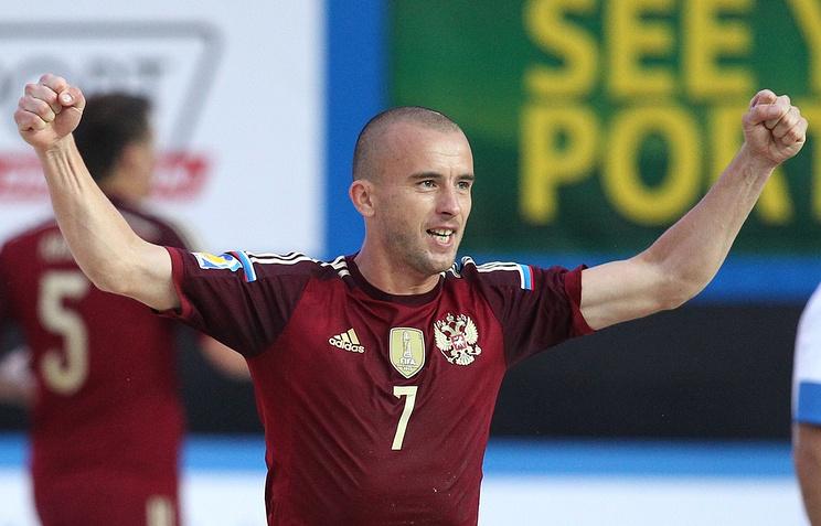 Игрок сборной России по пляжному футболу Антон Шкарин
