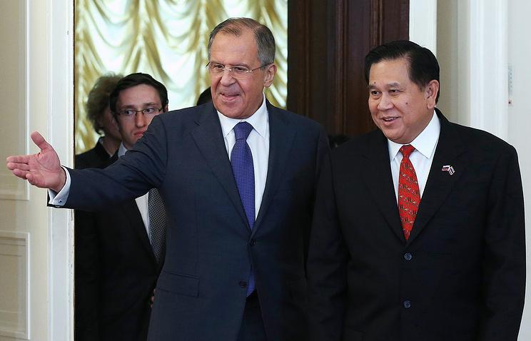 Главы МИД России и Таиланда Сергей Лавров и Тханасак Патимапракон