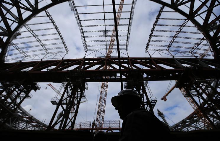 """Строительство стадиона """"Зенит-Арена"""" на Крестовском острове"""