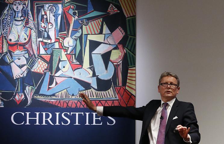 """Продажа картины Пабло Пикассо """"Женщины из Алжира"""" на аукционе Christie's"""
