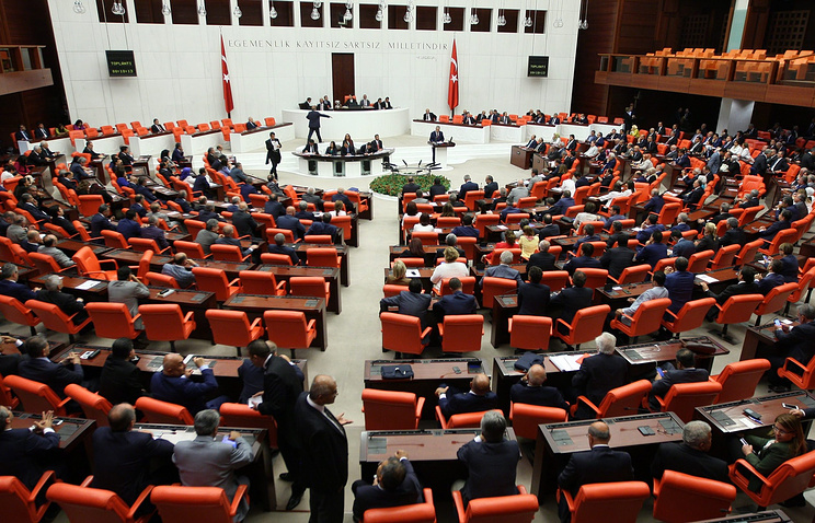 Заседание турецкого парламента, 29 июля