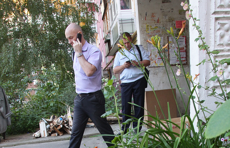 У подъезда жилого дома, где проживала многодетная семья с шестью детьми, Нижний Новгород