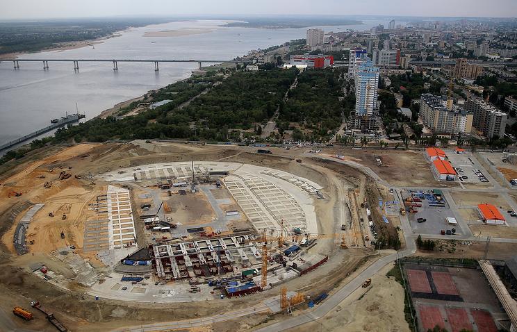 Строительство стадиона к чемпионату мира по футболу 2018 в Волгограде