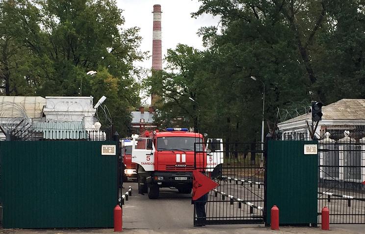 Пропускной пункт на территории порохового завода, где произошел взрыв грузовика с порохом