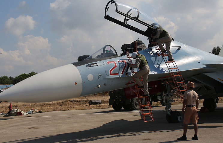 "Российские пилоты на авиабазе ""Хмеймим"""