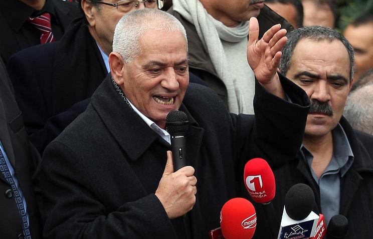 Лидер Главного союза тунисских рабочих Хусин Аббаси