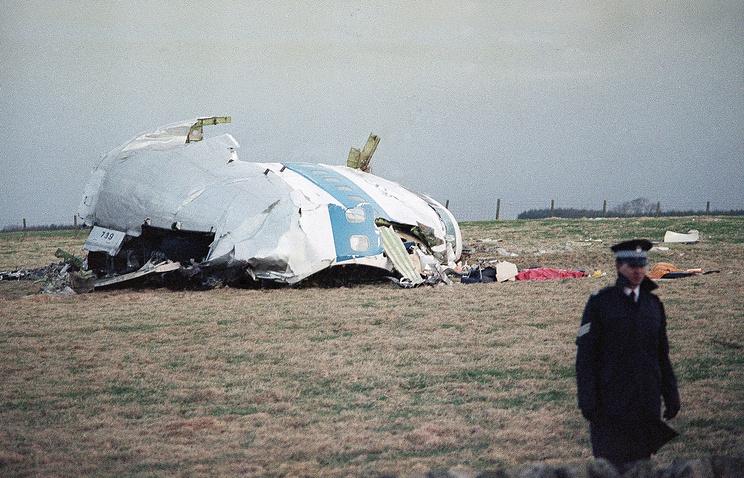 На месте крушения Boeing 747 в Локерби, 1988 год