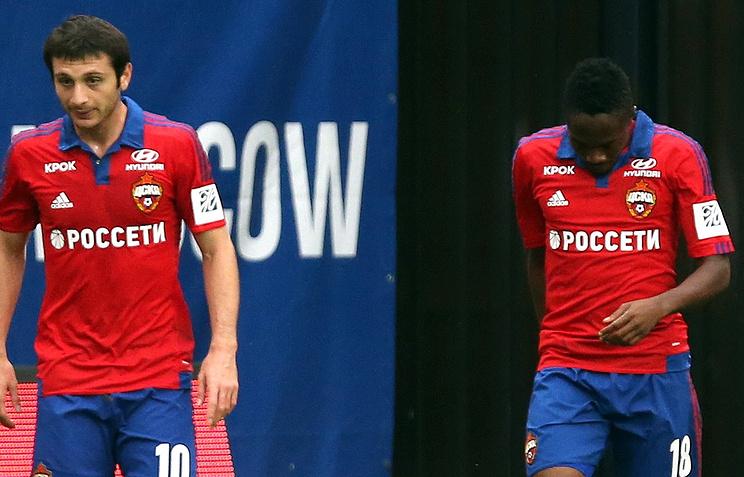 Футболисты ЦСКА Алан Дзагоев и Ахмед Муса