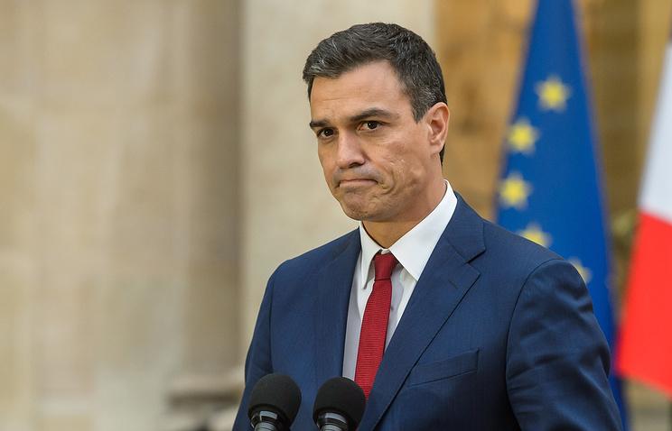 Генеральный секретарь Испанской социалистической рабочей партии (ИСРП) Педро Санчес