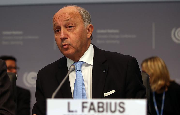 Глава французского МИД Лоран Фабиус
