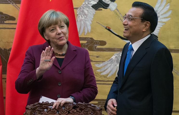 Ангела Меркель и Ли Кэцян