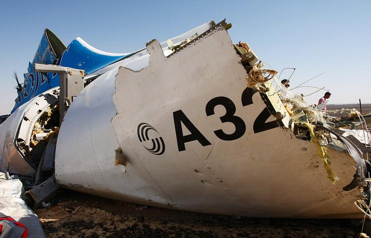 На месте крушения российского самолета Airbus A321
