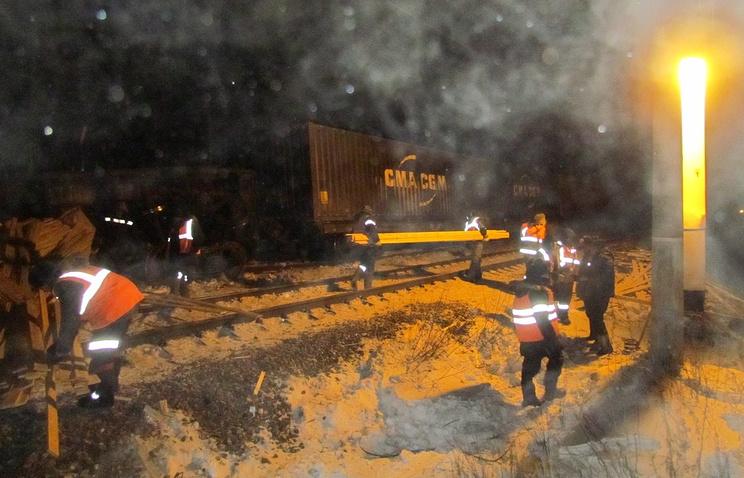 Сход грузовых вагонов в Приамурье