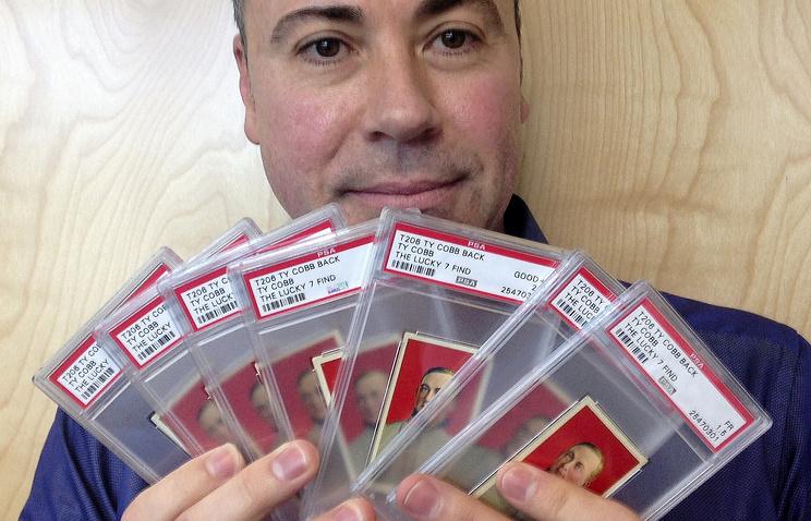 Карточки с изображением бейсболиста Тая Кобба