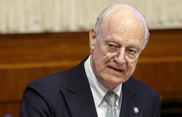 Cпецпосланник генсека ООН по Сирии Стаффан де Мистура