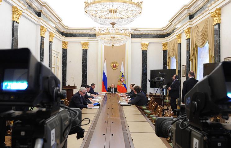 Владимир Путин на заседании рабочей группы по мониторингу и анализу правоприменительной практики в сфере предпринимательства, 23 марта