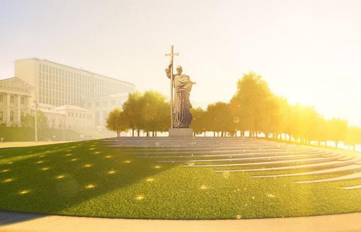Путин вДень народного единства возложил цветы к монументу Минину иПожарскому