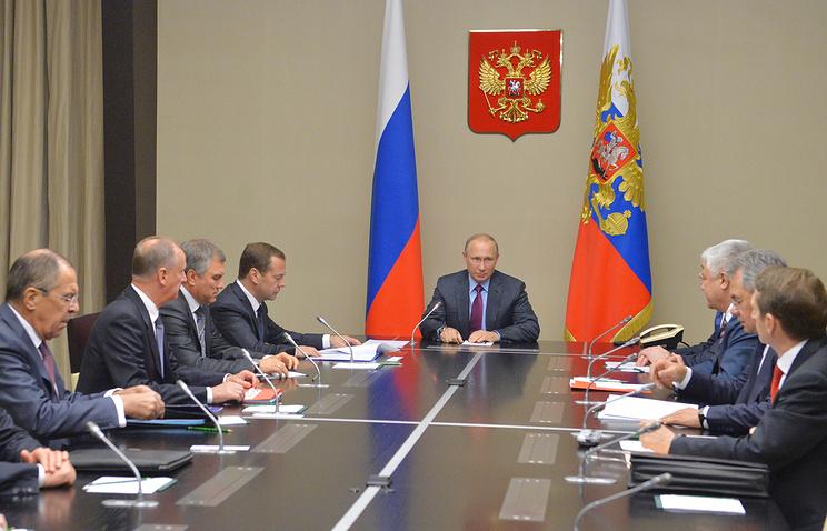Путин провёл совещание с неизменными членами Совета безопасности